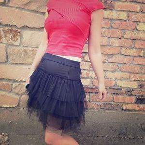 BCBG Tulle Tutu Mini Skirt